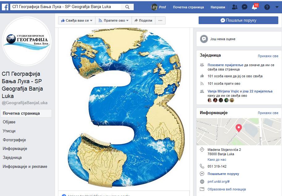 fejsbuk geografija